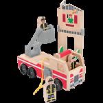 Melissa & Doug Whittle World Wooden Fire Rescue Set,16.75″ x 5.5″ x 4.5″,Each,4525