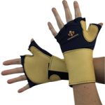 IMPACTO Fingerless Glove With Wrist Support,X-Small,Pair,704-20-XS