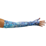 LympheDivas Sapphire Compression Arm Sleeve And Gauntlet,Each,SAPPHIRE