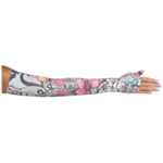 LympheDivas Tattoo Blossom Compression Arm Sleeve And Gauntlet,Each,TATTOO BLOSSOM