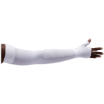 LympheDivas White With Crystal Swirl Compression Arm Sleeve And Gauntlet,Each,WHITE WITH CRYSTAL SWIRL