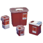 Covidien Kendall Phlebotomy Sharps Container,SharpSafety, 2.2 Quart, Red,60/Case,1522SA