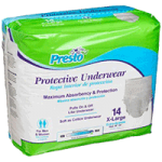 Presto Plus Protective Underwear,58″ to 68″, X-Large,14/Pack, 4pk/Case,AUB23050