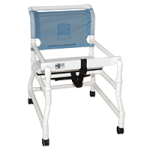 MJM International Wide Walker with Heavy Duty Casters and Adjustable Height,Each,421-3