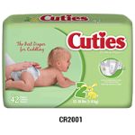 First Quality Cuties Diapers,Size 6, 35+lb,92/case,CR6001