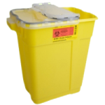 BD Chemotherapy Sharps Collector With Natural Hinge Top,17 Gallon,5/Case,305614