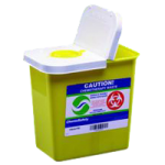 Covidien Kendall SharpSafety Chemosafety Containers with Hinged Lid,2 Gallon,Each,8982