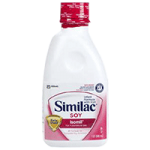 Abbott Similac Soy Isomil 20 Formula with Iron,Unflavored, On-the-Go, 8fl oz (237ml), Bottle,24/Case,58601
