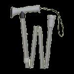 Mabis DMI HealthSmart Folding Comfort Grip Cane,Gray,Each,502-1313-0030