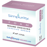 Safe N Simple Simpurity Adhesive Border Foam Dressing,2″ x 2″,12/Pack,SNS72302