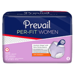 First Quality Prevail Per-Fit Protective Underwear For Women,Large, Waist 44″ to 58″,18/Pack,PFW-513