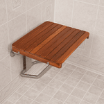 Teakworks4u ADA Compliant Wall Mount Plantation Teak Shower Seat,24″ L x 16″ D x 14″ H,Each,PTBF-240160W